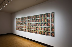 Greg Denton, 100 Poppies/100 Portraits, 2015 (Installation view)